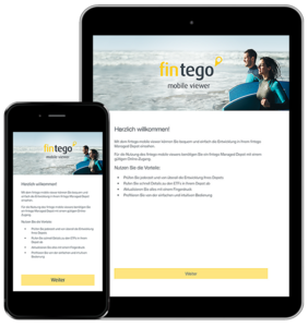 Flyer zur App fintego mobile viewer